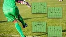 Ejercicios para la mejora des desplazamiento y la posición básica en el portero de futbol