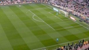 Calentamiento-pre-partido-de-los-porteros-del-FC-Barcelona
